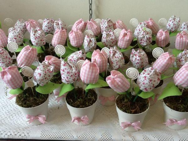 Lembrancinhas vasinhos de tulipas de tecido dellicat by - Tulipas para ventiladores de techo ...